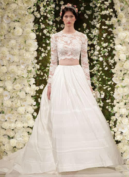 Celebrity style fashion news fashion trends and beauty for Crop top wedding dress