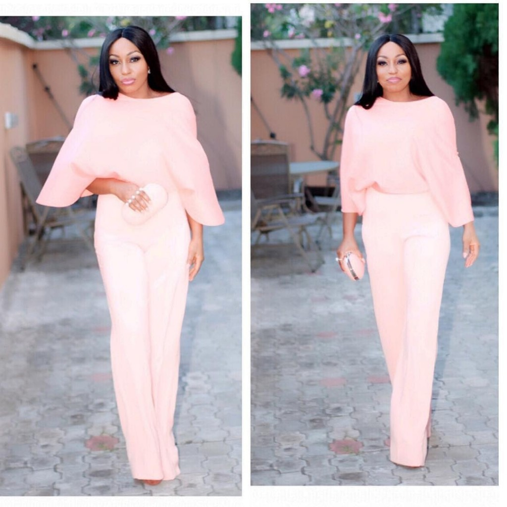 002d2c084403 See How Rita Dominic Embraces the Peach Outfit Trend - FPN