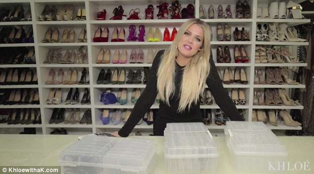 Khloe Kardashians Huge Shoe And Jewelry Closet Is Every Girls