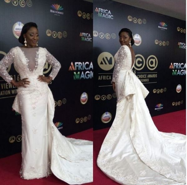 Ini Edo Actually Wore A Wedding Gown To AMVCA2016