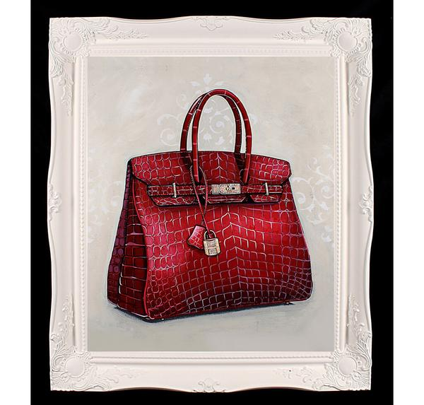 hermes_birkin_red_giclee_crystal_painting_fashionpolicenigeria