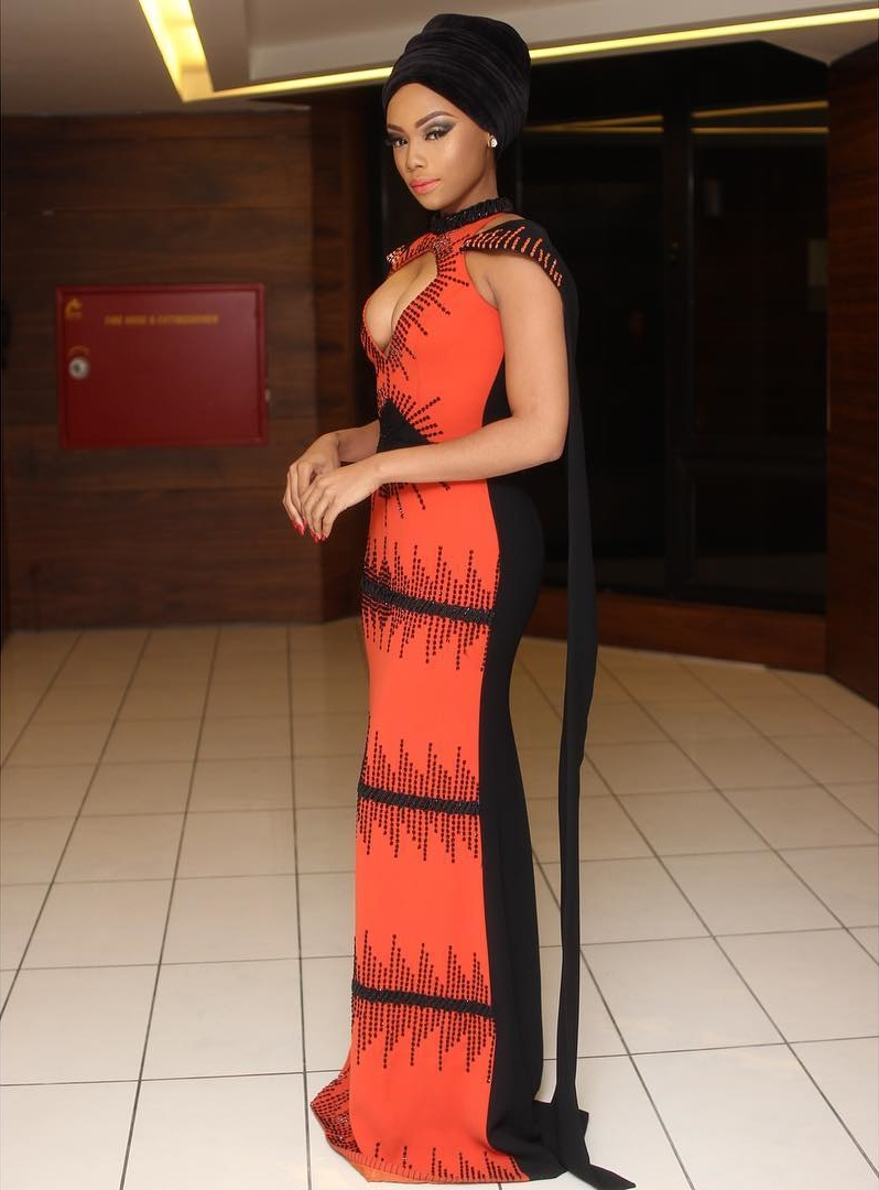 Bonang Matheba Wore This Gorgeous Gown To Host Afrima 2016