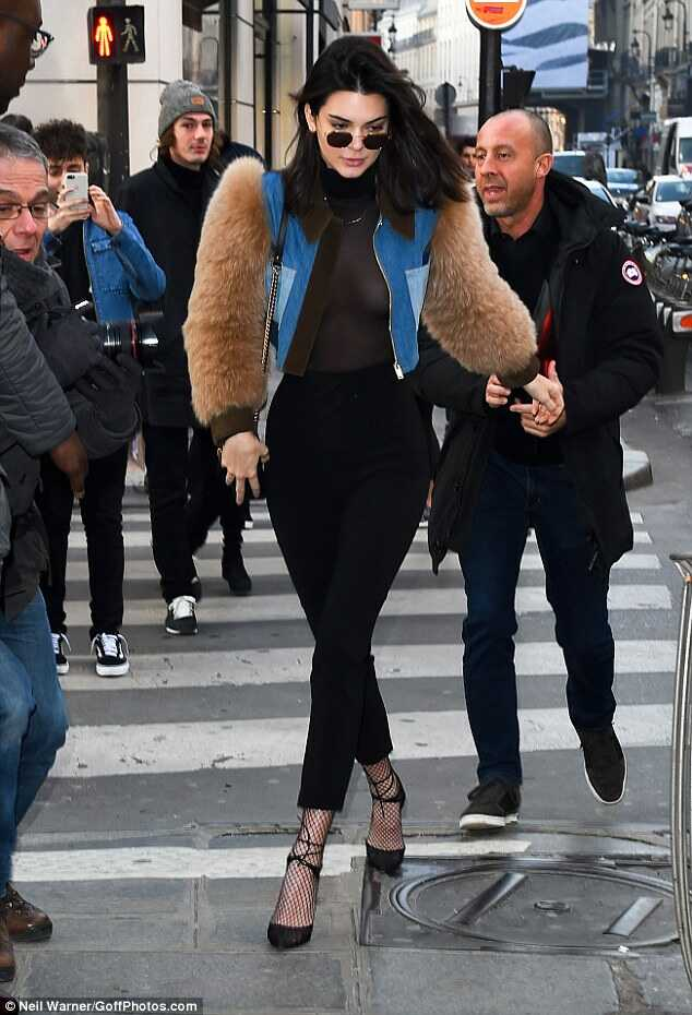 Kendall-jenner-braless-paris-men's-fashion-week-fashionpolicenigeria-1