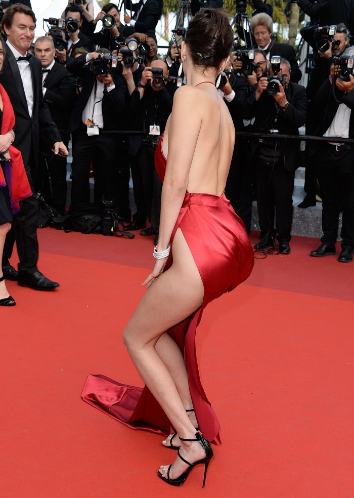 "CANNES, FRANCE - MAY 18: Model Bella Hadid attends ""The Unknown Girl (La Fille Inconnue)"" Premiere duirng the annual 69th Cannes Film Festival at Palais des Festivals on May 18, 2016 in Cannes, France. (Photo by Pascal Le Segretain/Getty Images)"