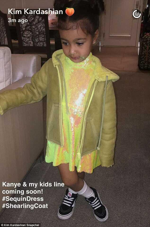 kanye-kim-kardashian-children-clothing-line-fashionpolicenigria