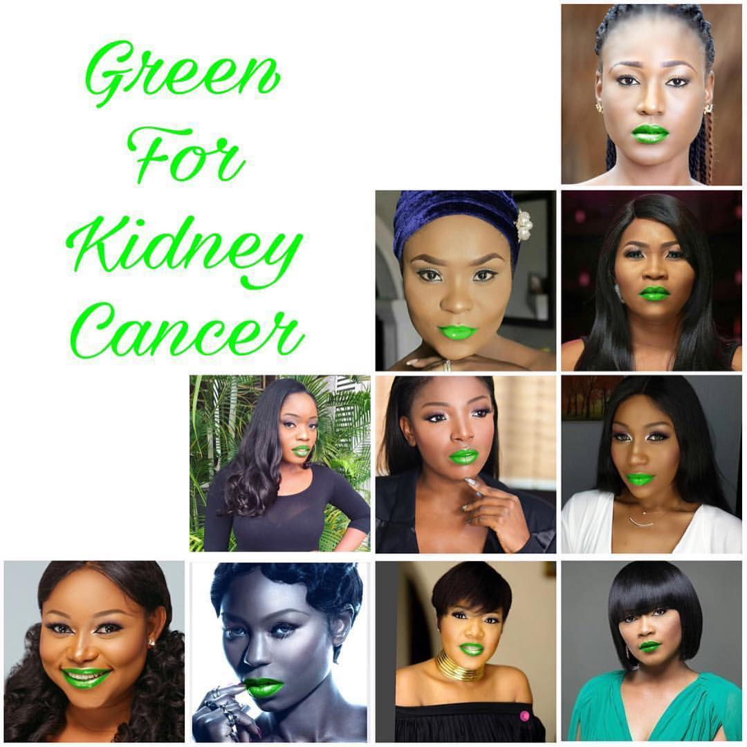 Juliet Ibrahim Is Making Men To Wear Green Lipstick For World Kidney Cancer Day Fpn