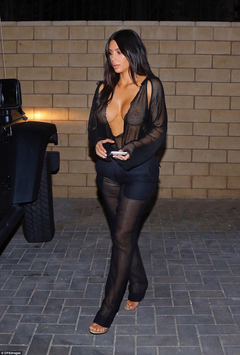 Kim Kardashian Date Night naked dress