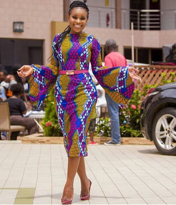 joselyn dumas ankara dress miss malaika 2017