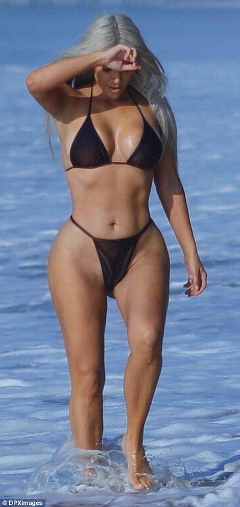 Kim Kardashian Malibu Beach