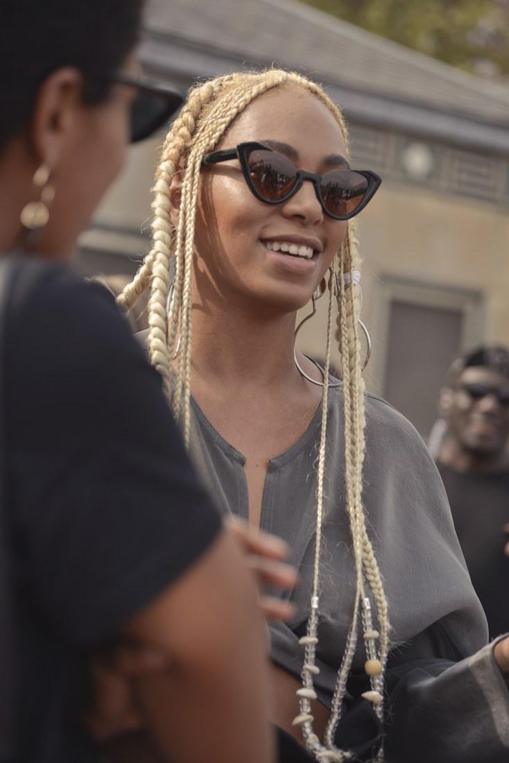 Solange Knowles Blonde Braids Hairstyle