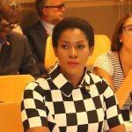 Stephanie Okereke Monochrome Dress UN General Assembly