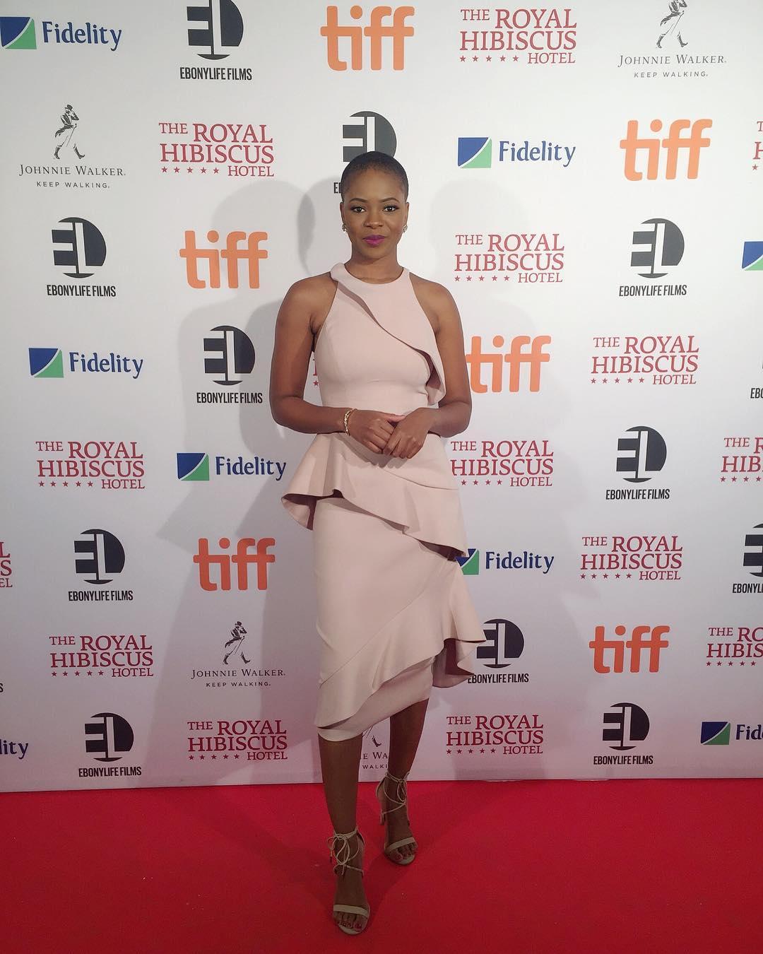 Zainab Balogun Short Hair Royal Hibiscus Screening TIFF 2018