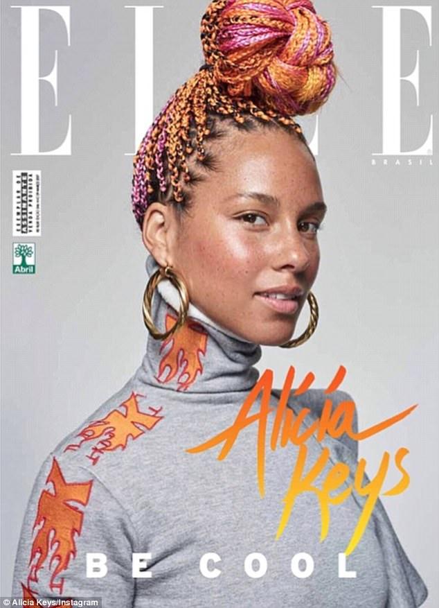 alicia-keys-no-makeup-elle-brazil-cover