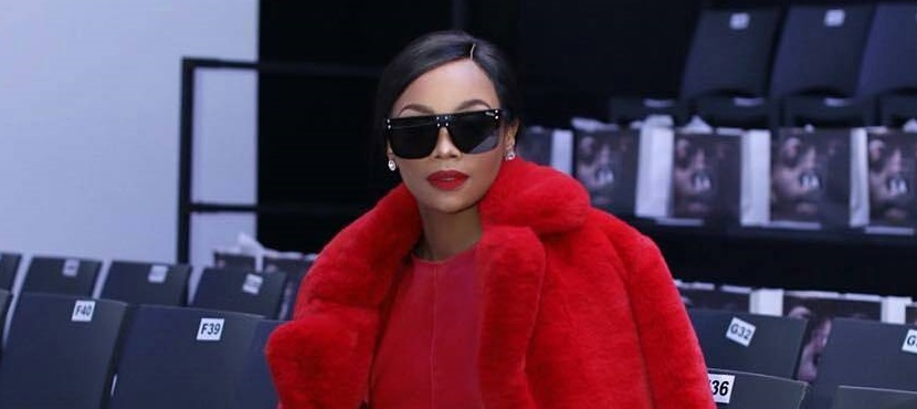Bonang Matheba All-Red Outfit SA Fashion Week