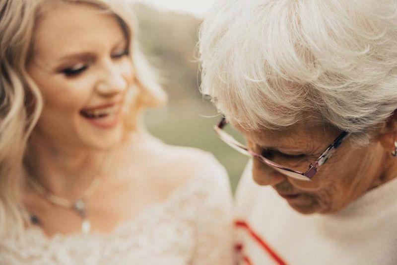 Bride Wears Grandma Wedding Dress