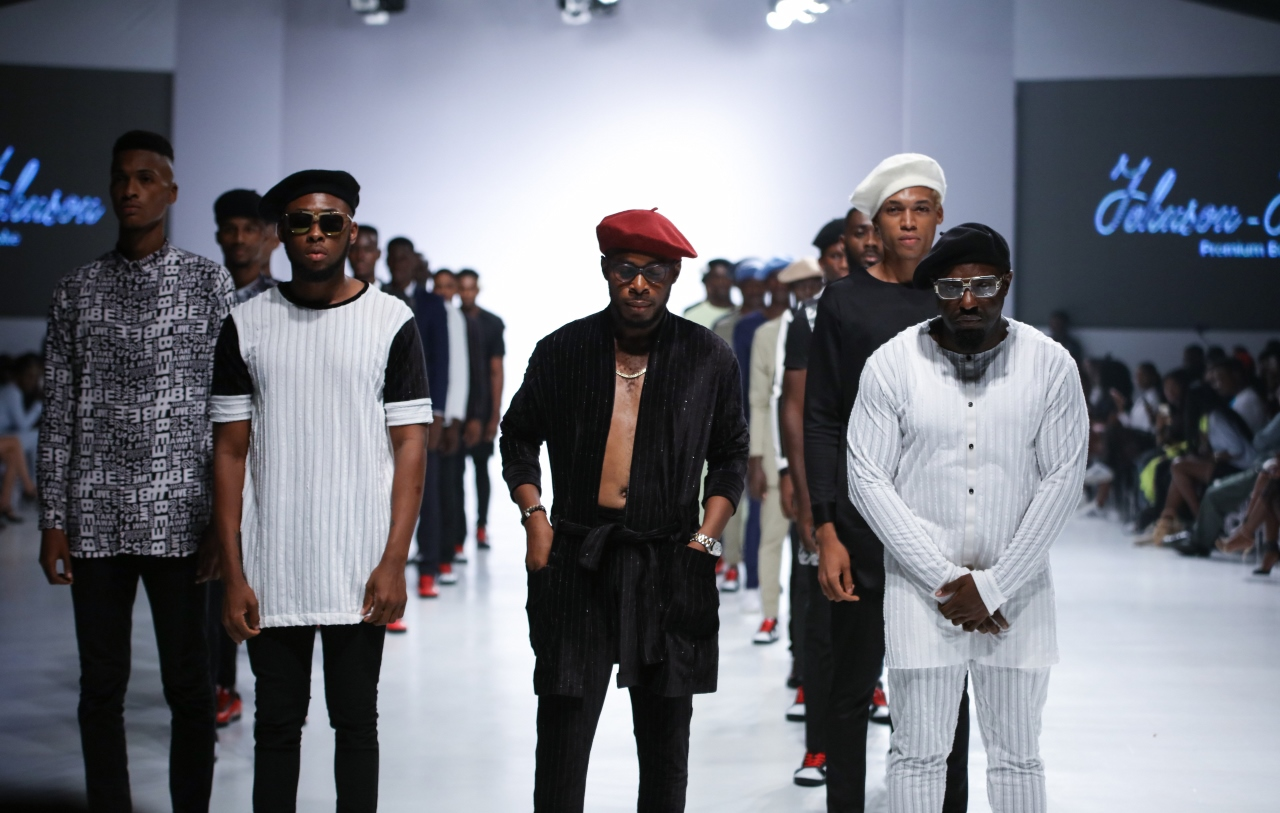 Jim Iyke Runway Debut Johnson Johnson Lagos Fashion Week 2017