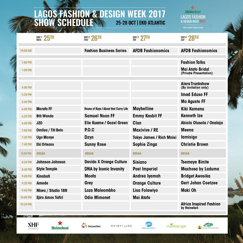 LFDW Show Schedule 2017