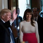 Melania Trump Red Skirt Hispanic Heritage Month