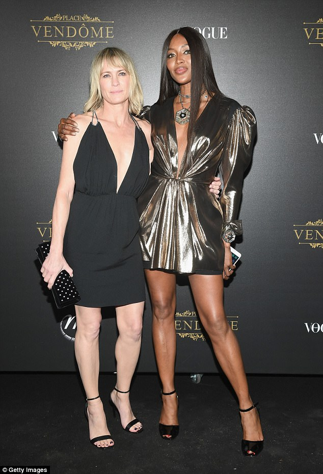 Naomi Campbell Gold Metallic Dress