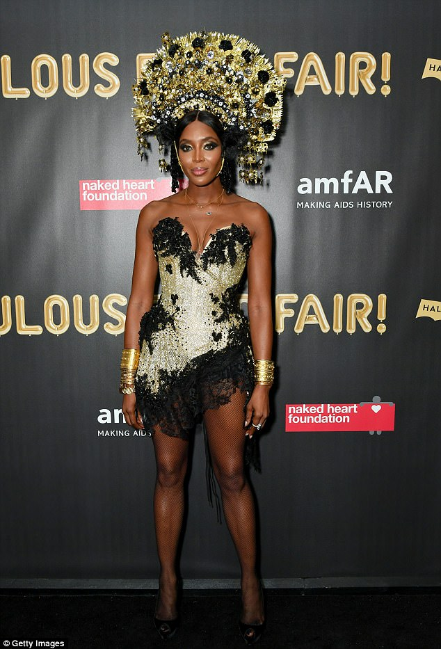 Naomi Campbell Halloween Outfit amfAR's Fabulous Fund Fair