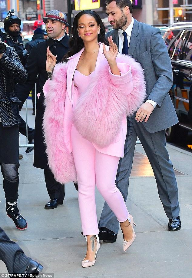 Rihanna monochromatic dressing