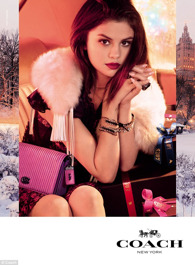 Selena Gomez Coach Holiday Campaign