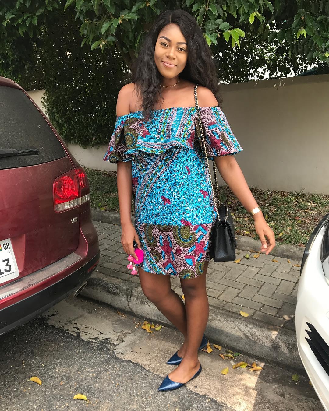 Yvonne Nelson Ankara Strapless Dress