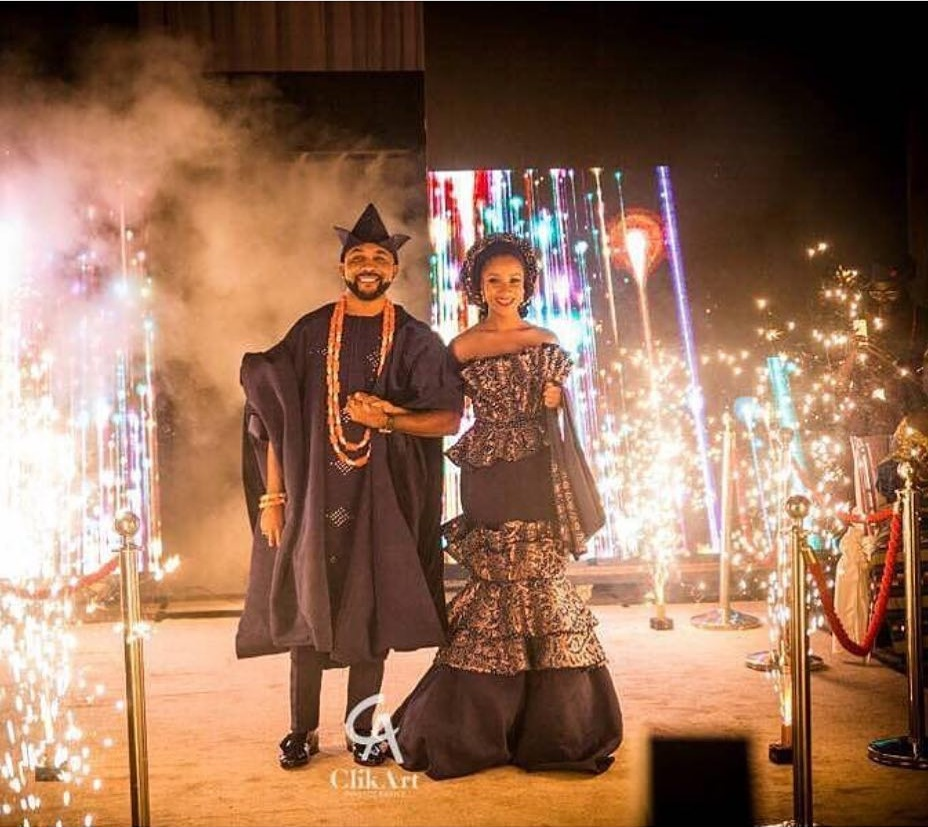 Adesua Etomi Wedding Dress
