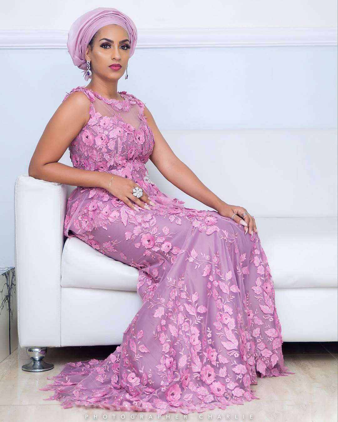 Adesua Etomi Wedding Guest Dress
