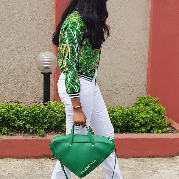 Ebube Nwagbo Balenciaga Triangle Bag