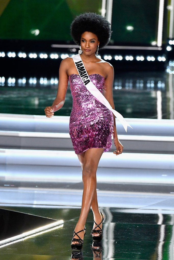 Miss Jamaica Davina Bennett Wears Natural Hair