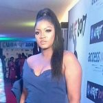 Omotola Jalade Strapless Gown Afriff