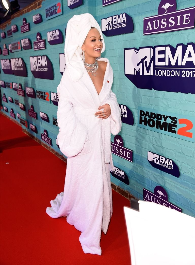 Rita Ora Bathrobe Outfit MTV EMAs