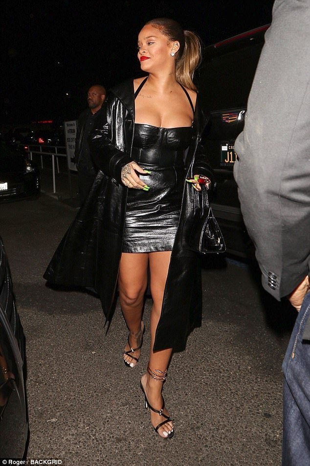 Rihanna Leather MiniDress