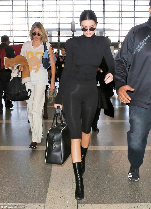 Kendall Jenner All-Black Ensemble
