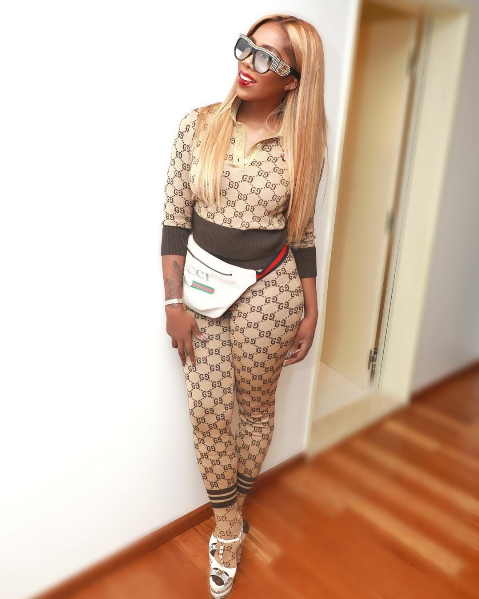 Tiwa Savage Gucci GG Supreme Prints