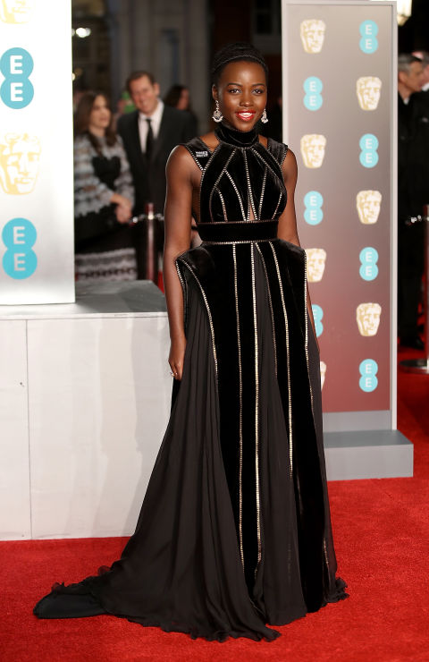 BAFTAs Red Carpet Lupita Nyong'o