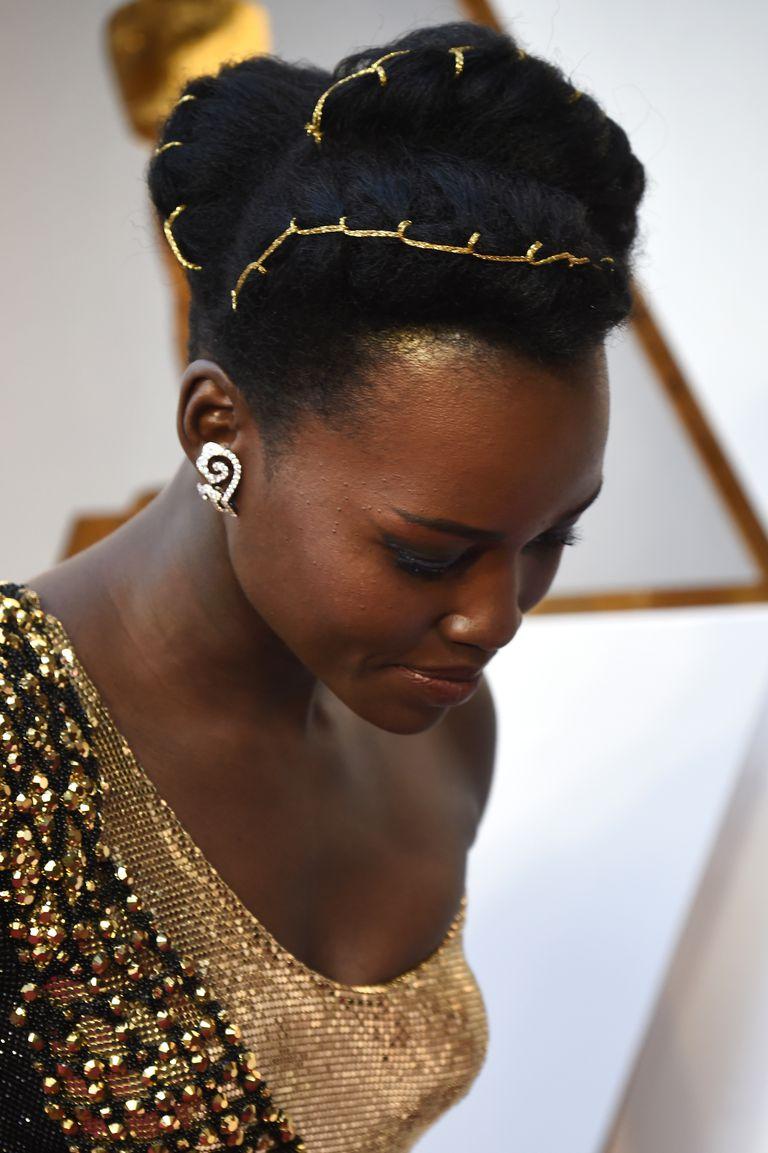 Lupita Nyong'o Oscars Hairstyle