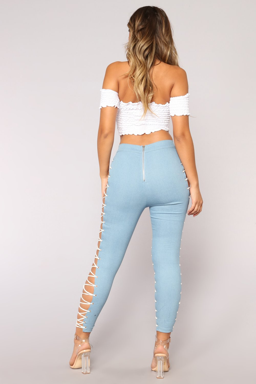 Fashion Nova Wild Thang Lace-Up Jeans 02