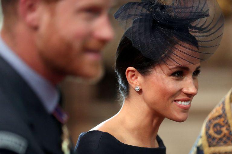Duchess Sussex Navy Dress RAF Centenary Celebrations