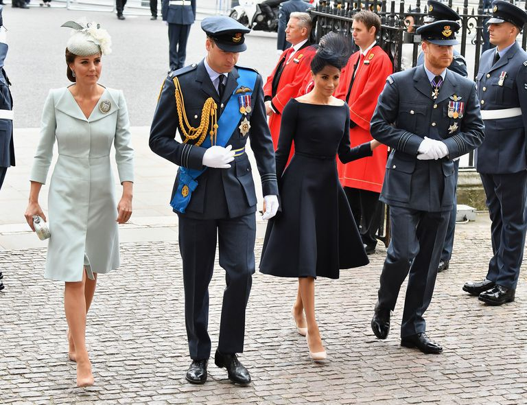 Duchess Sussex Navy Dress RAF Centenary Celebrations