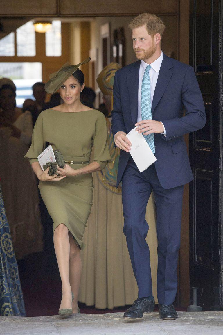 Meghan-Markle-Olive-Green-Ralph-Lauren-Dress-Prince-Louis-Christening