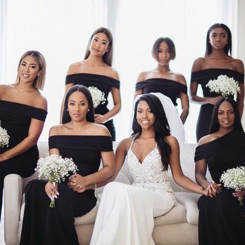 black-bridesmaid-dress-color