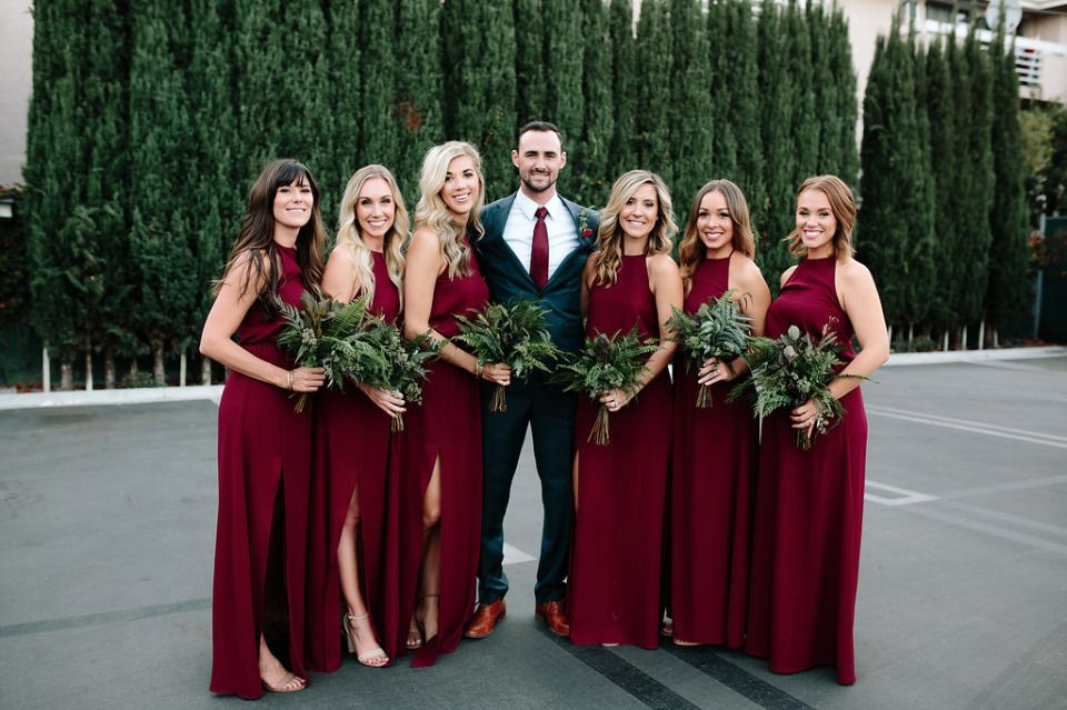 deep-red-bridesmaid-dress-color