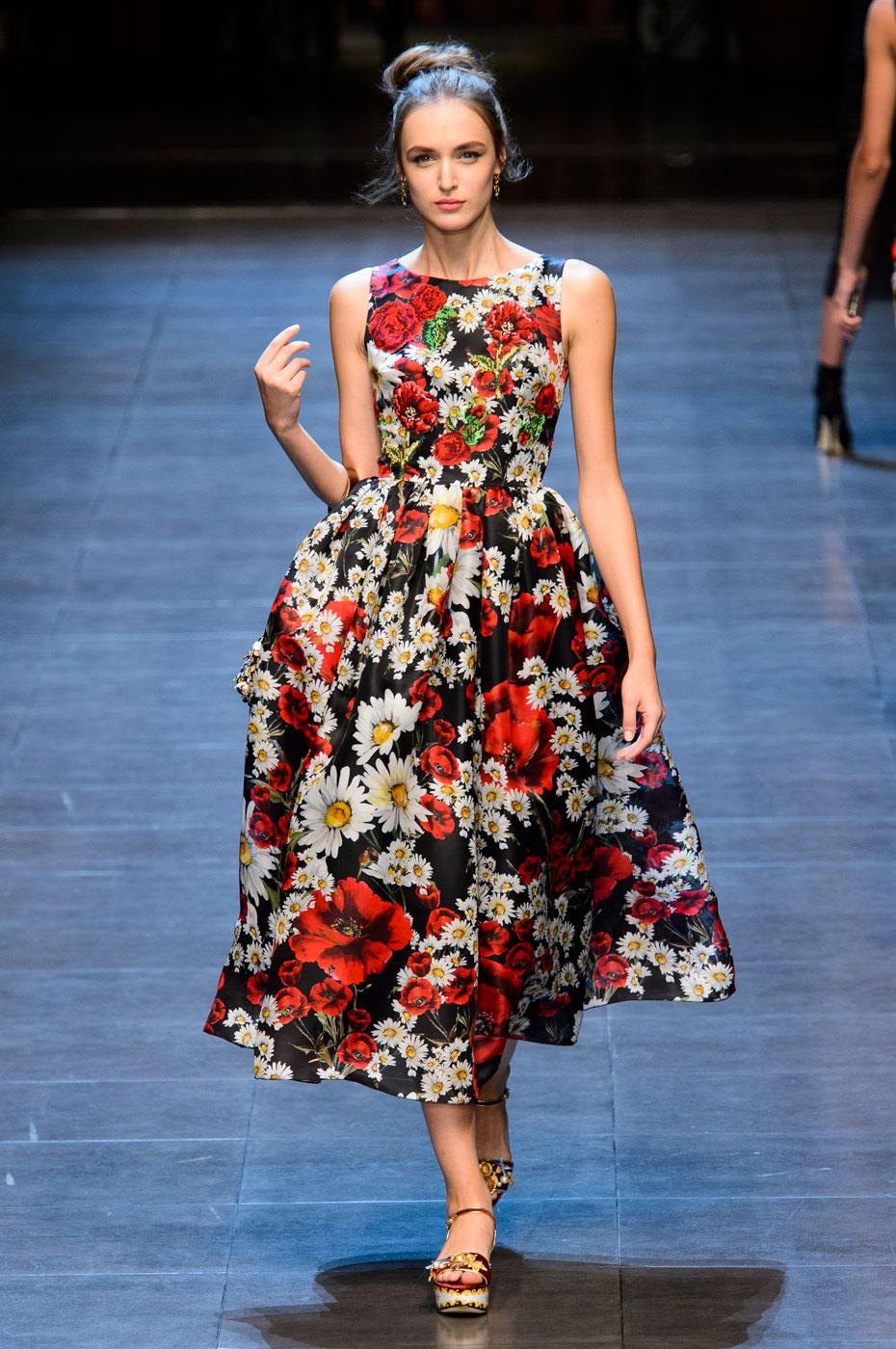 Dolce&Gabbana-Floral-Prints-Runway