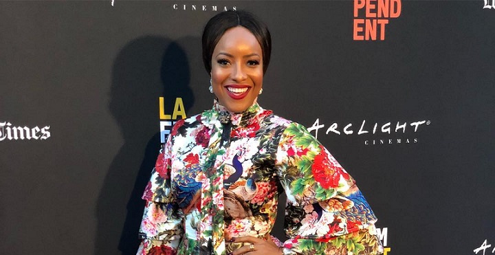 Joselyn Dumas-Floral-Dress-LA-Film-Festival