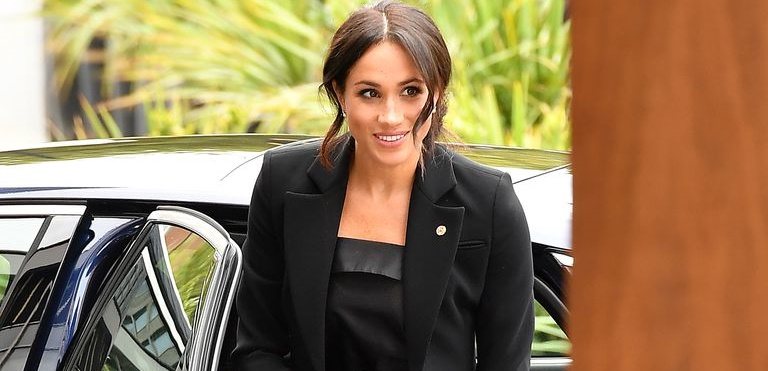 Meghan-Markle-Black-Tuxedo-WellChild Awards-5