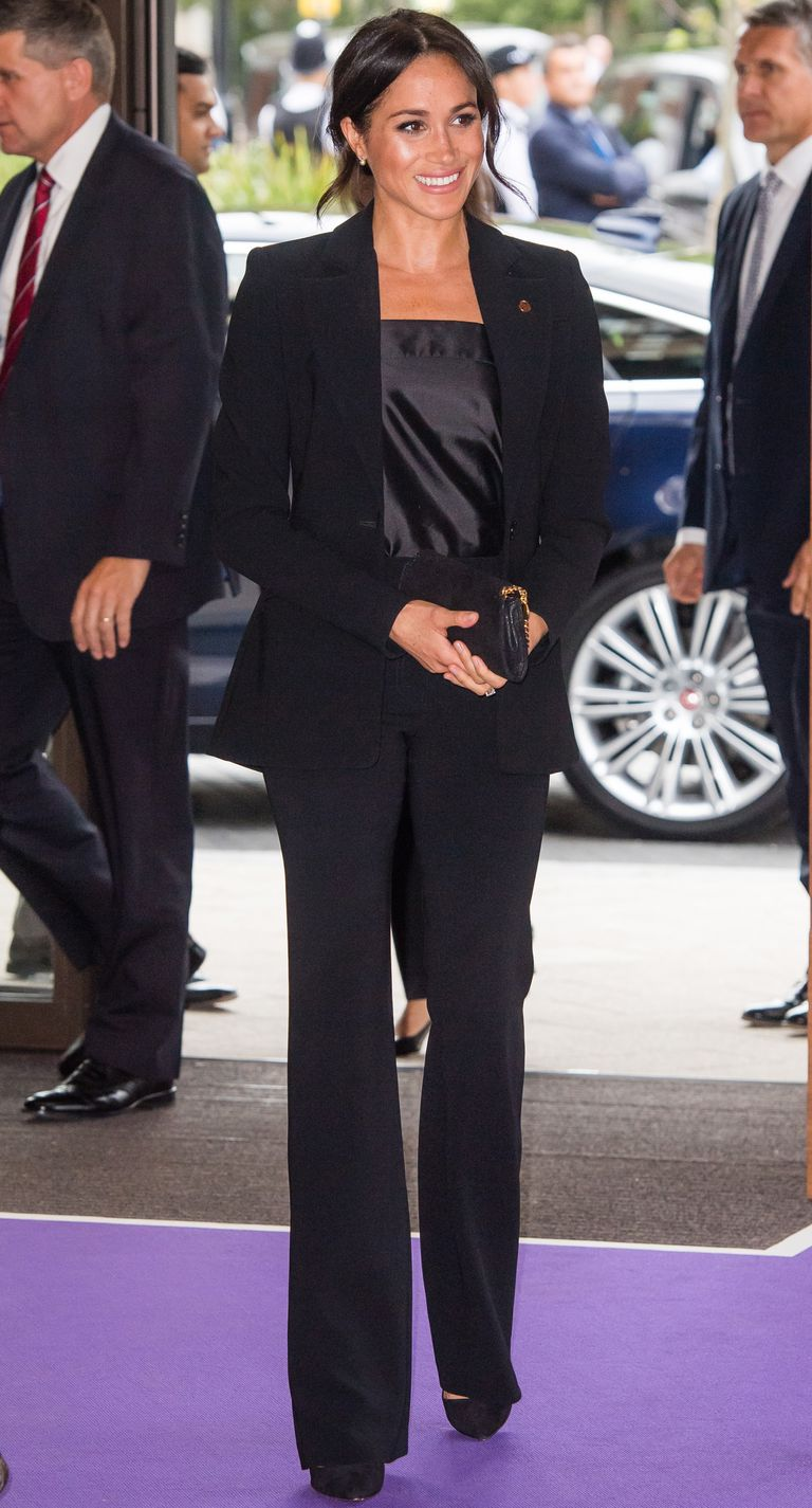 Meghan-Markle-Black-Tuxedo-WellChild Awards
