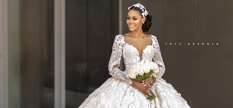 ex-beauty-queen-Debbie-Kanu-dream-wedding-gown