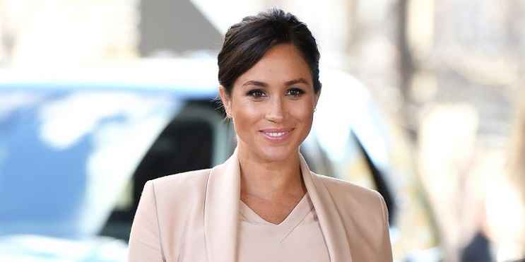Meghan Markle Blush Pink Outfit National Theater